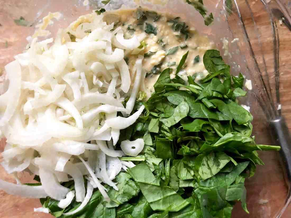 fennel, spinach & gruyère potato bake