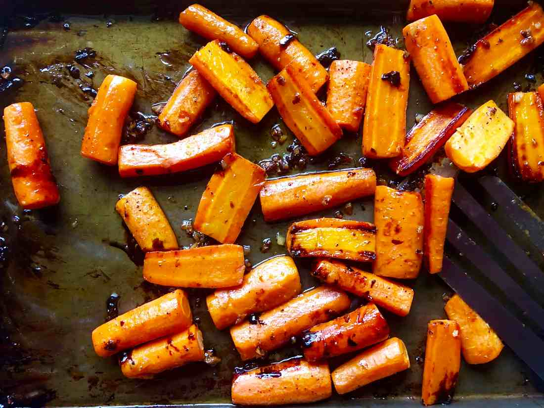 roasted carrots with honey butter glaze