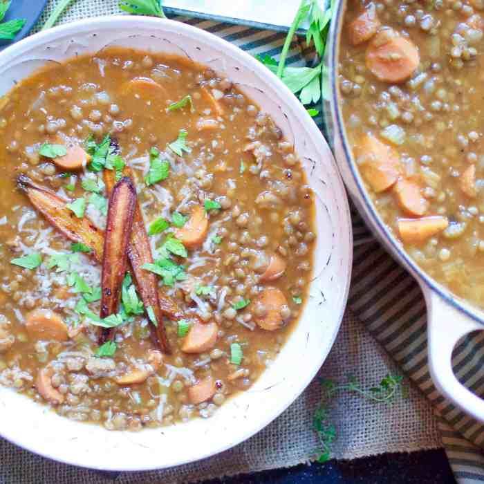 ina garten's lentil & sausage soup