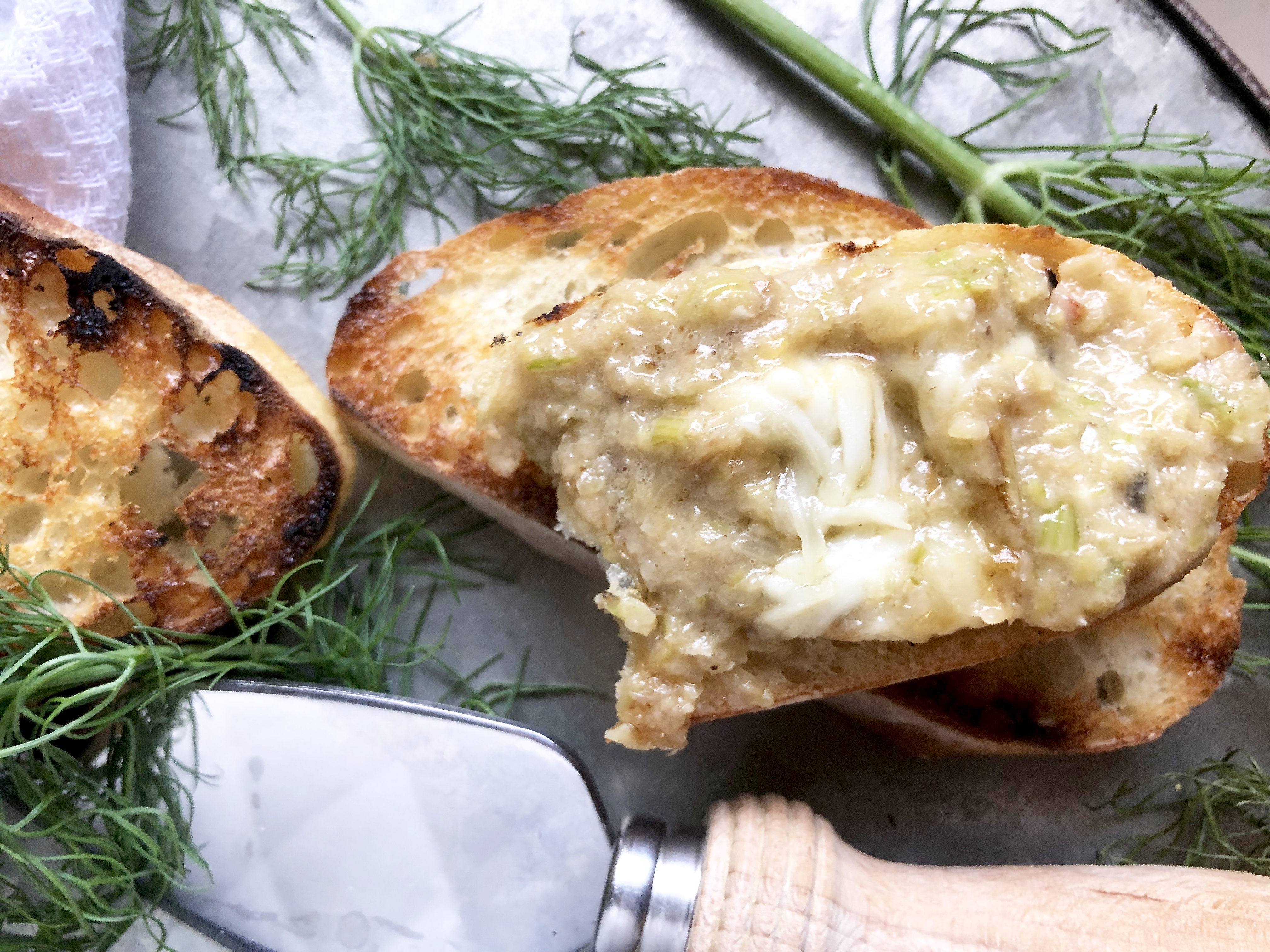 caramelized fennel & leek cheese dip