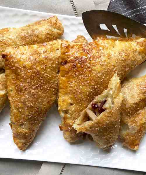 pear & cranberry turnovers