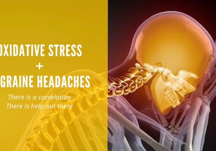 oxidative stress + migraine headaches