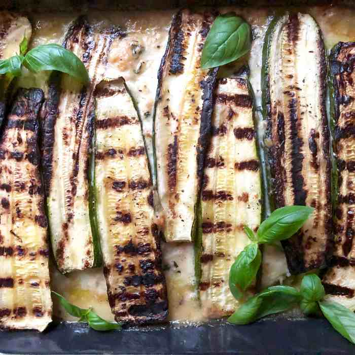 grilled zucchini parmesan
