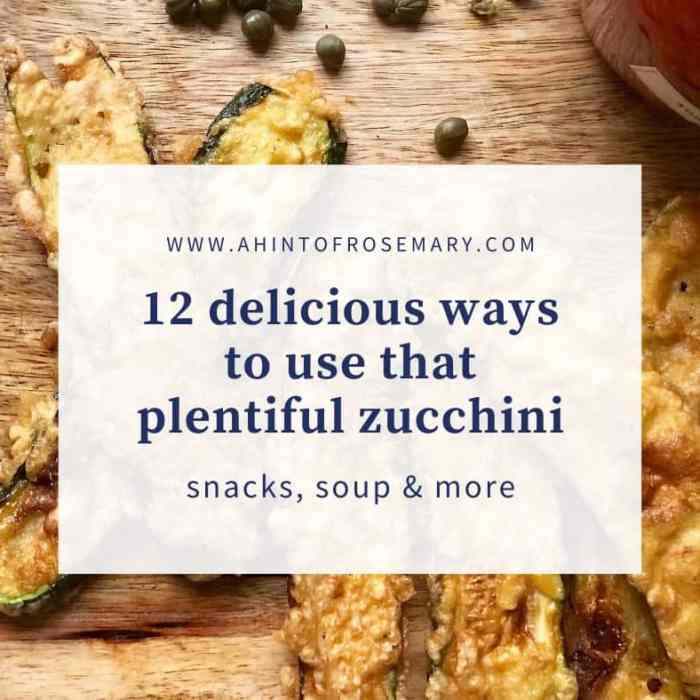 12 delicious ways to use that plentiful zucchini