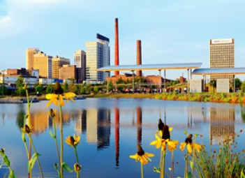 A look at Birmingham from Railroad Park