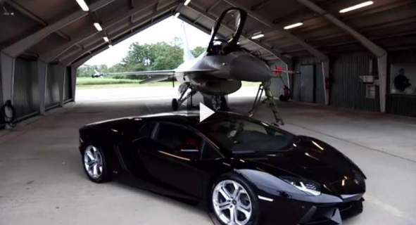 سباق لامبرغيني مع F16