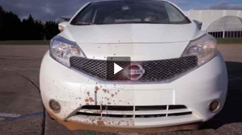 بالفيديو نيسان تبتكر سيارة لا تحتاج إلى الغسيل