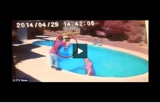 فيديو: إلقاء القبض على أب قام بإلقاء ابنته في المسبح