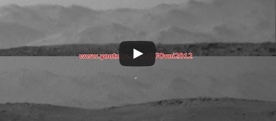 بالفيديو:  جسم مجهول في سماء الكوكب الأحمر!!!