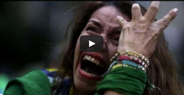 فيديو رد فعل الجمهور البرازيلي بعد خسارته أمام ألمانيا 7-1