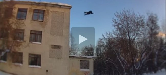 فيديو جنوني هبوط حر من ارتفاع 3 طوابق بدون اي حماية