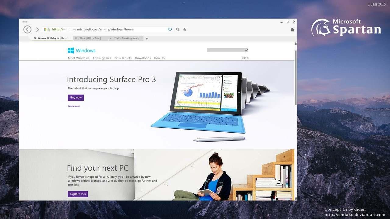 متصفح Spartan للويب من مايكروسوفت تطوره حديثاً لويندوز 10