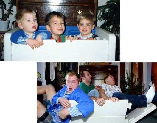 ثلاثة أخوة يسترجعون الذكريات