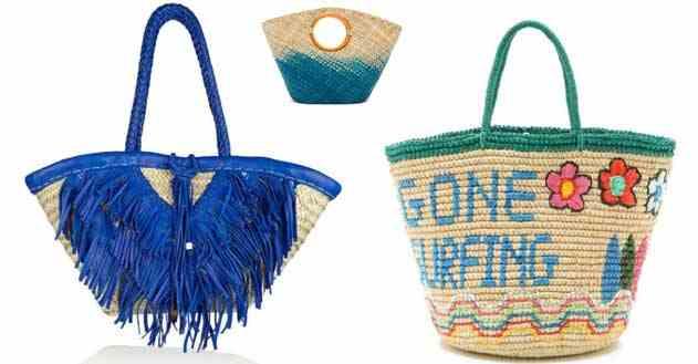 حقائب قش شاطئية لصيف 2015 مميزة للمزيد من التألق