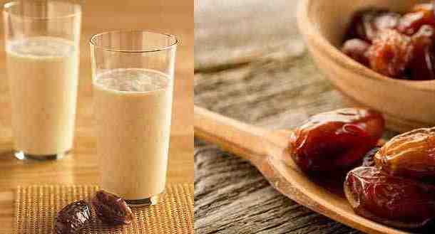 مشروب التمر و اللبن اللذيذ و طريقة سهلة لتحضيره
