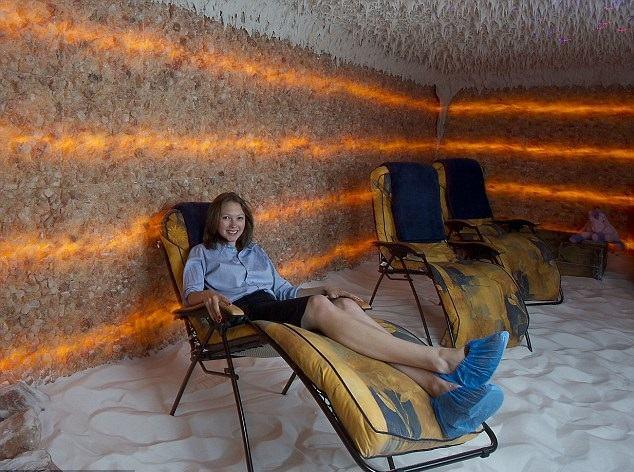غرفة مفرشة بالملح للاستشفاء