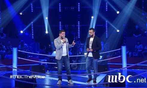 ذا فويس حسام الشامي و يزن رشيد مرحلة المواجهة فريق عاصي تعى ننسى