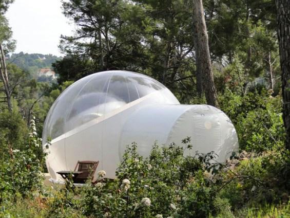 شاهد الطبيعة الخلابة من داخل الخيمة