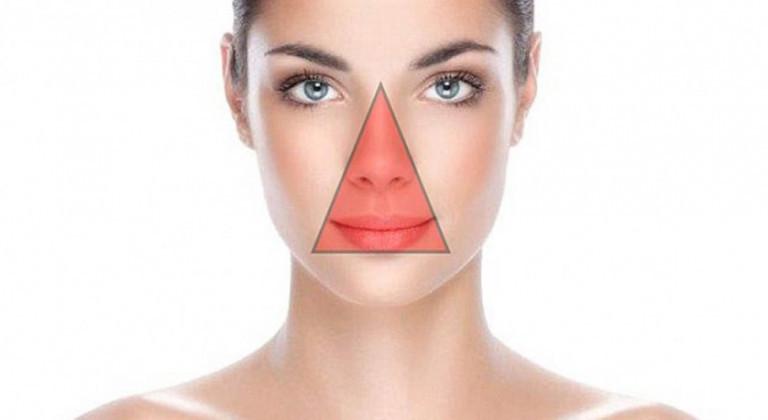 ماهو مثلث الموت في الوجه