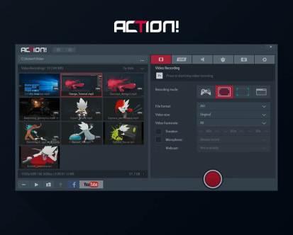 افضل مسجل فيديو لشاشة الكمبيوتر برنامج Action سجل العابك ولقطات الفيديو التي تحبها