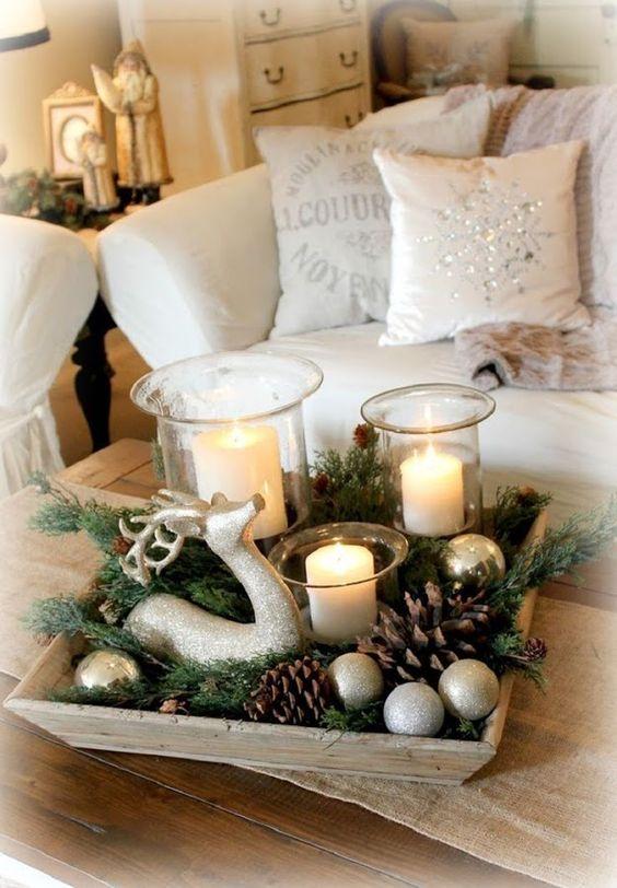 تزيين عيد الميلاد المجيد بأكواز الصنوبر