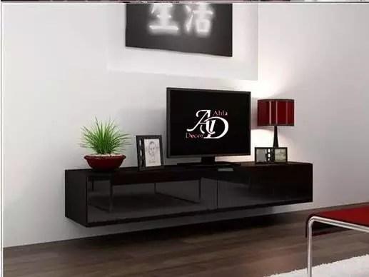 meuble tv suspendu noir et blanc