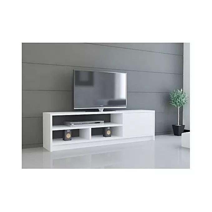 meuble tv simple design m13 blanc l 1 m 30