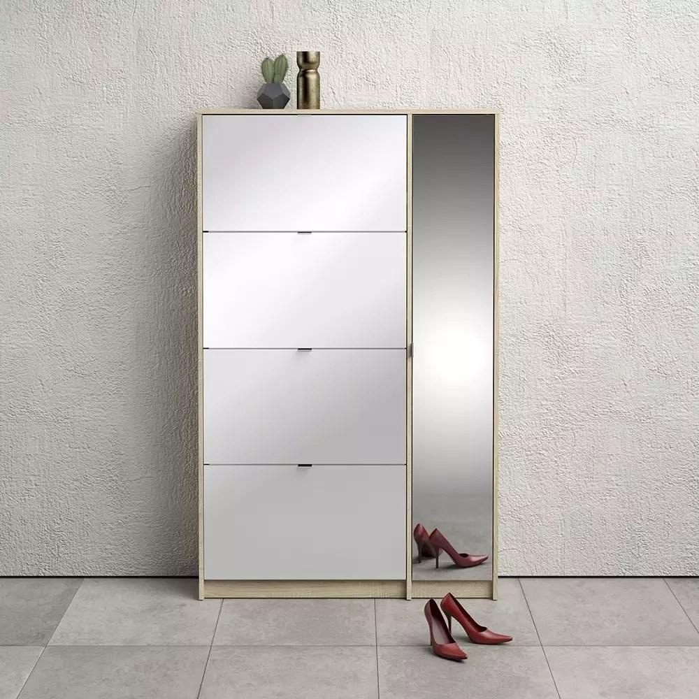 Meuble Chaussures Avec Miroir Pm72 Ahla Decor Meuble Decoration
