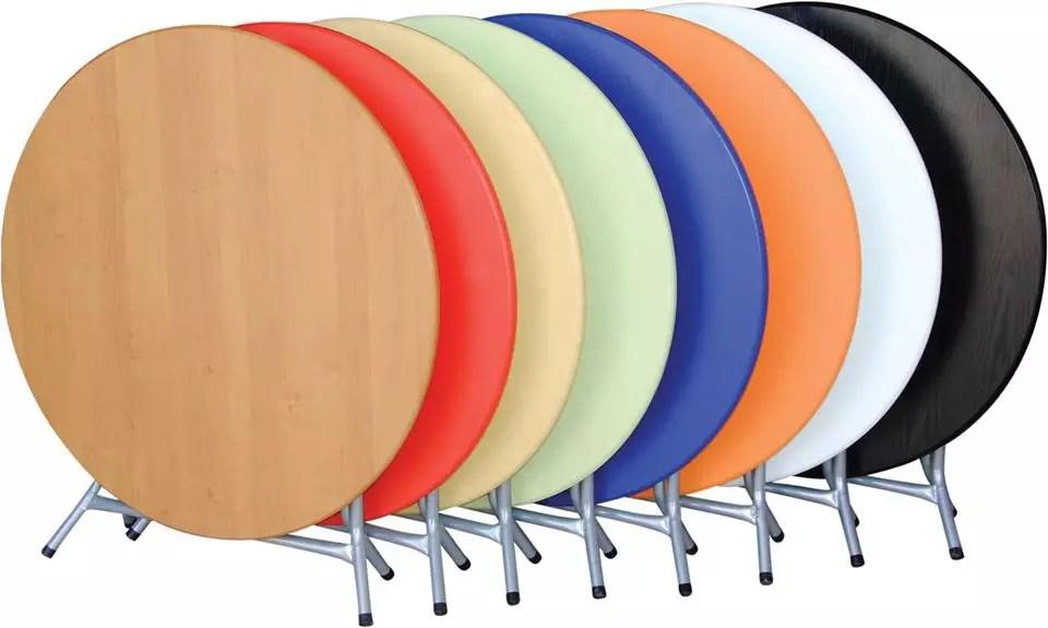 table pliante ronde d 100 pvc