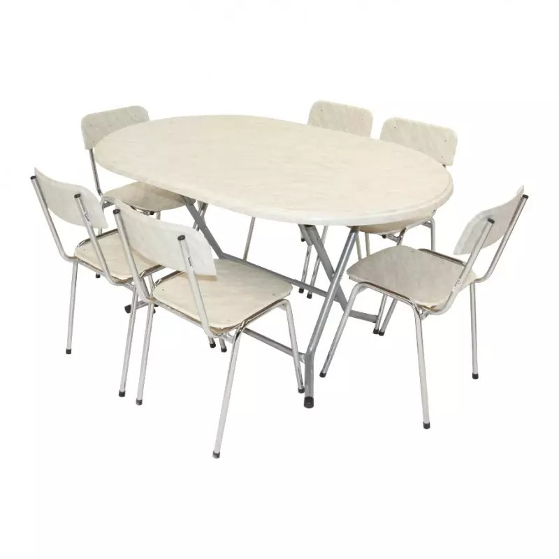 table pliante ovale werzalit 146x94cm