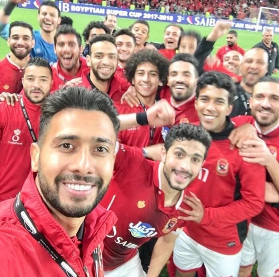 قائمة النادي الأهلي من اجل لقاء مصر المقاصة غدا