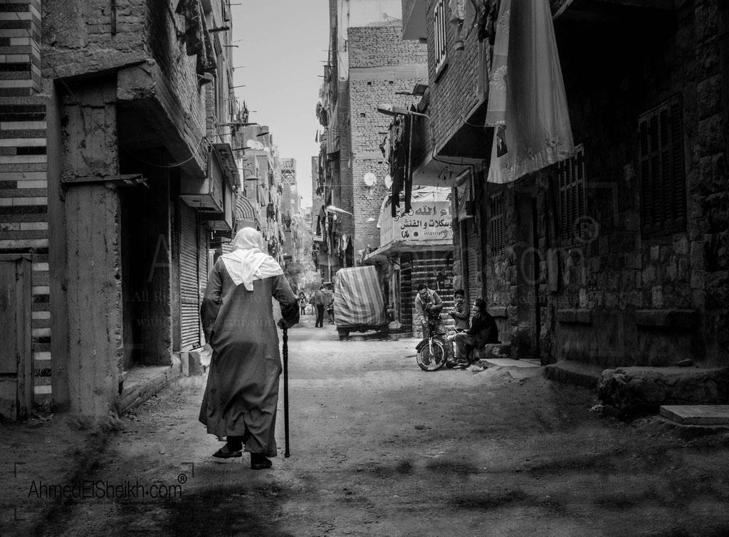 Old Man walking in Egypt