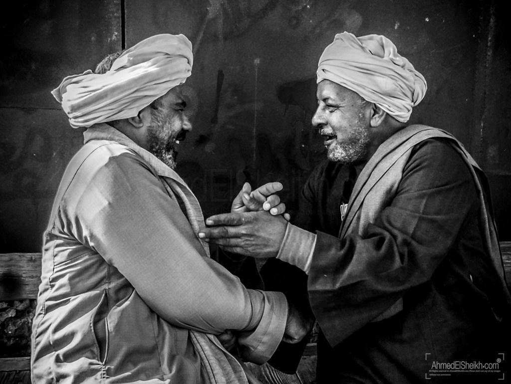 Two Old Men having fun
