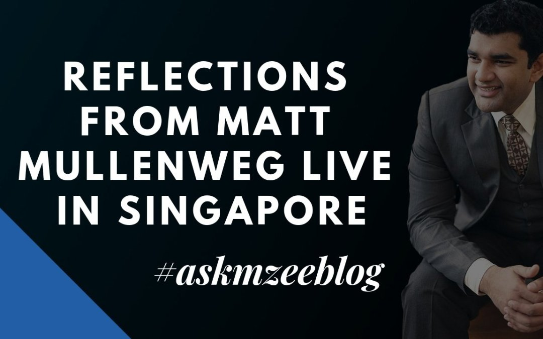 Reflections From Matt Mullenweg Live In Singapore #MATTINSG