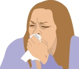 A chronic cough or sore throat