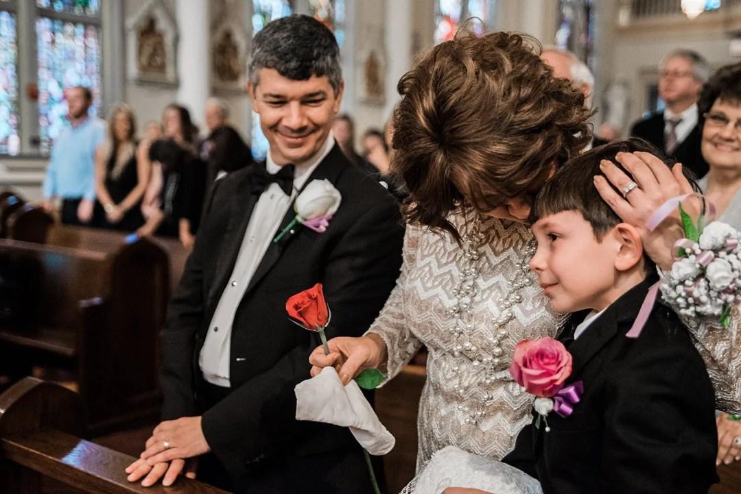 wedding church photo ring bearer