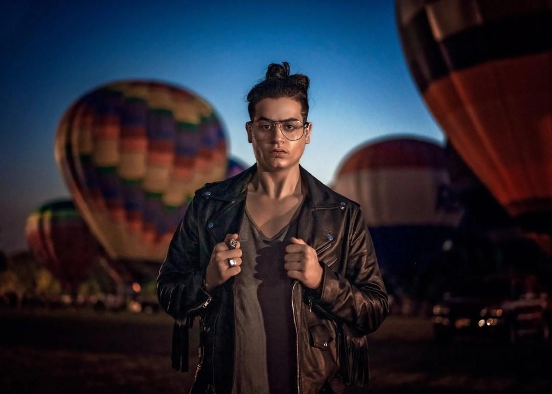creative portrait hot air balloon photograph