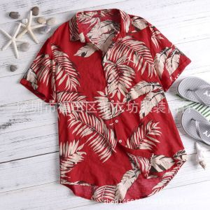 AliExpress hot sale Hawaiian style casual beach holiday printing men shirt men