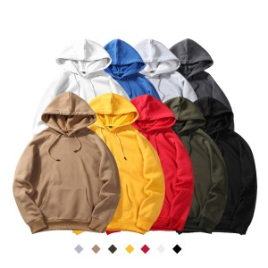 autumn and winter new tide brand men's street men's loose printed sweater large size long sleeve hooded sweater