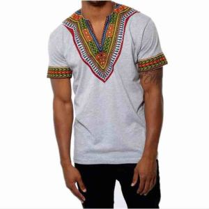 African ethnic style printed collar short sleeve men's shirt men's