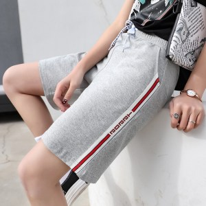 a large number of high-waist sports shorts women Xia loose loose thin Korean version of five-point hot pants large size wide-leg casual
