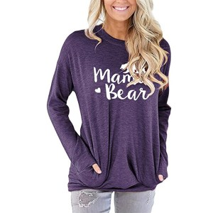 Amazon Hot Selling Explosive Women's Sweater Letter Printed Loose Round Neck Long Sleeve Shirt