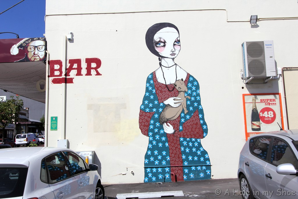 Painted on the side of Henry on Eighth in Maylands by Jodee Knowles
