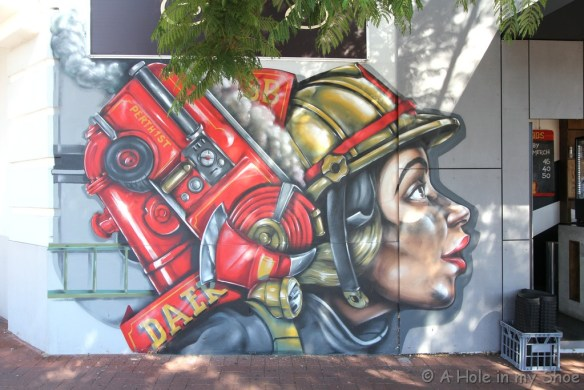 Painted on Standby Cafe in Mt Lawley by Daek Williams