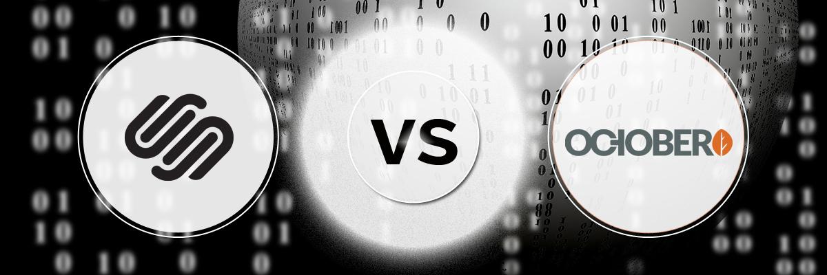 Squarespace vs October-ahomtech