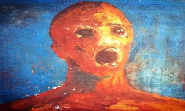 """Quadro """"pintado com sangue"""" causa fenômenos bizarros em casa"""