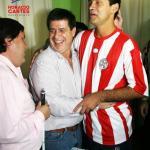 En compañía de una de las estrellas de nuestra selección paraguaya, en la Asociación de Ciegos del Paraguay.