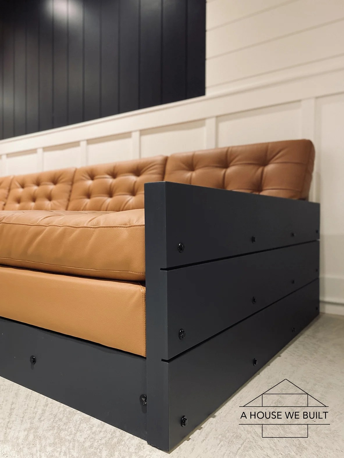 how to make a sofa pit