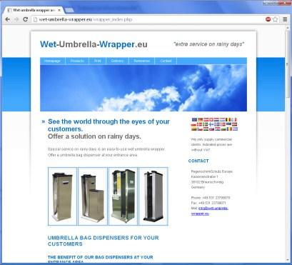 Wet Umbrella Wrapper EU-weit International