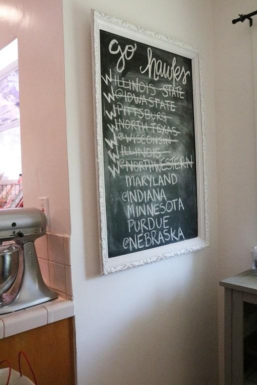 Hawkeye chalkboard | Ahrens at Home